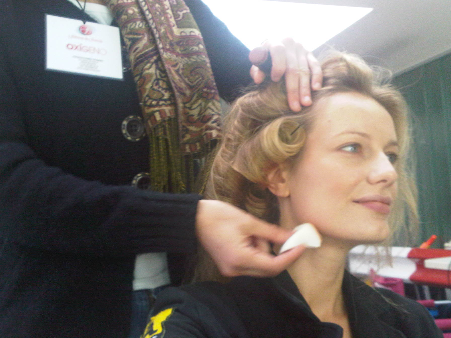 Renata Zanchi - Make-up artists hands in progress. How could the world exist without them?!? :-)