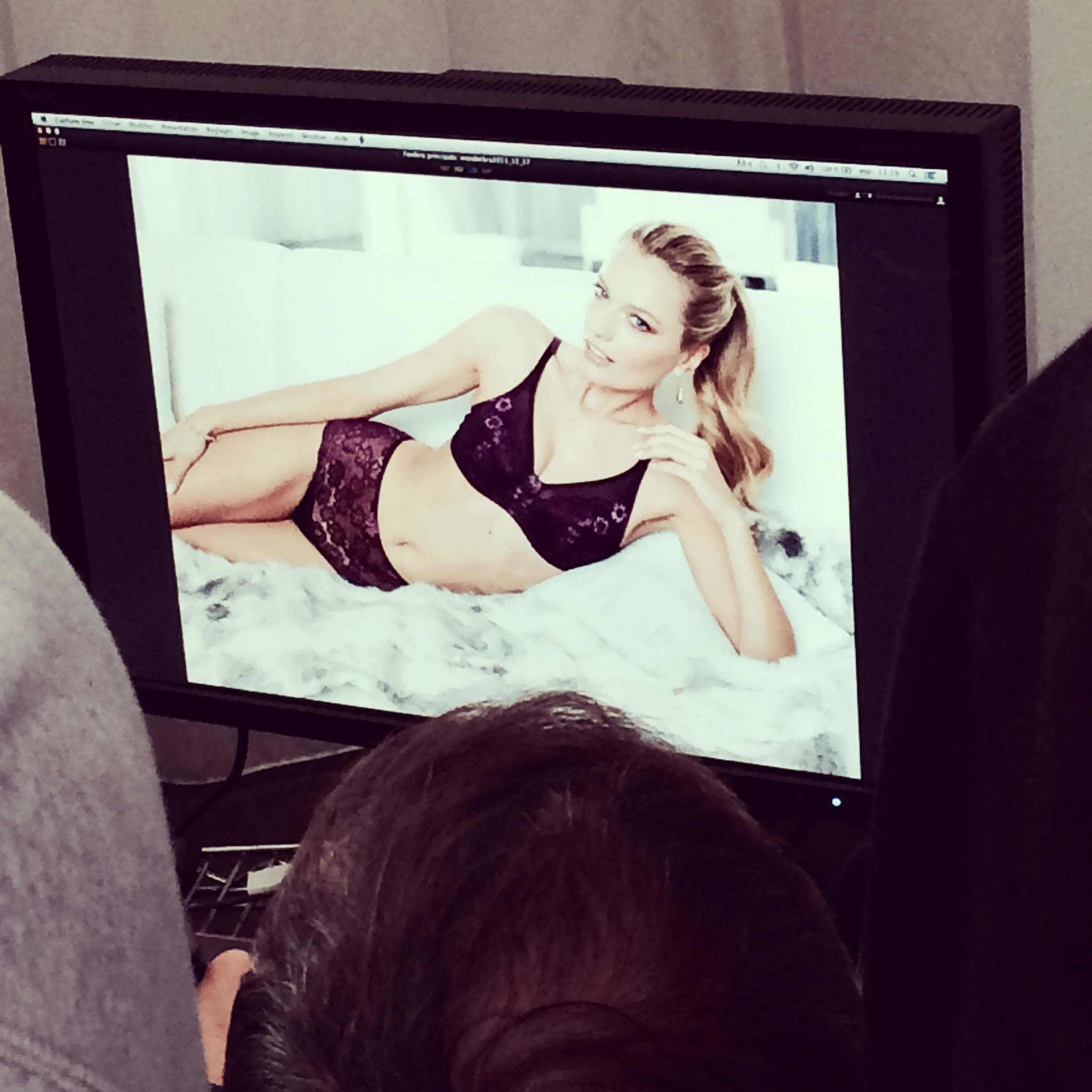 """Renata Zanchi - On set of the new Wonderbra Campaign for Canada. """