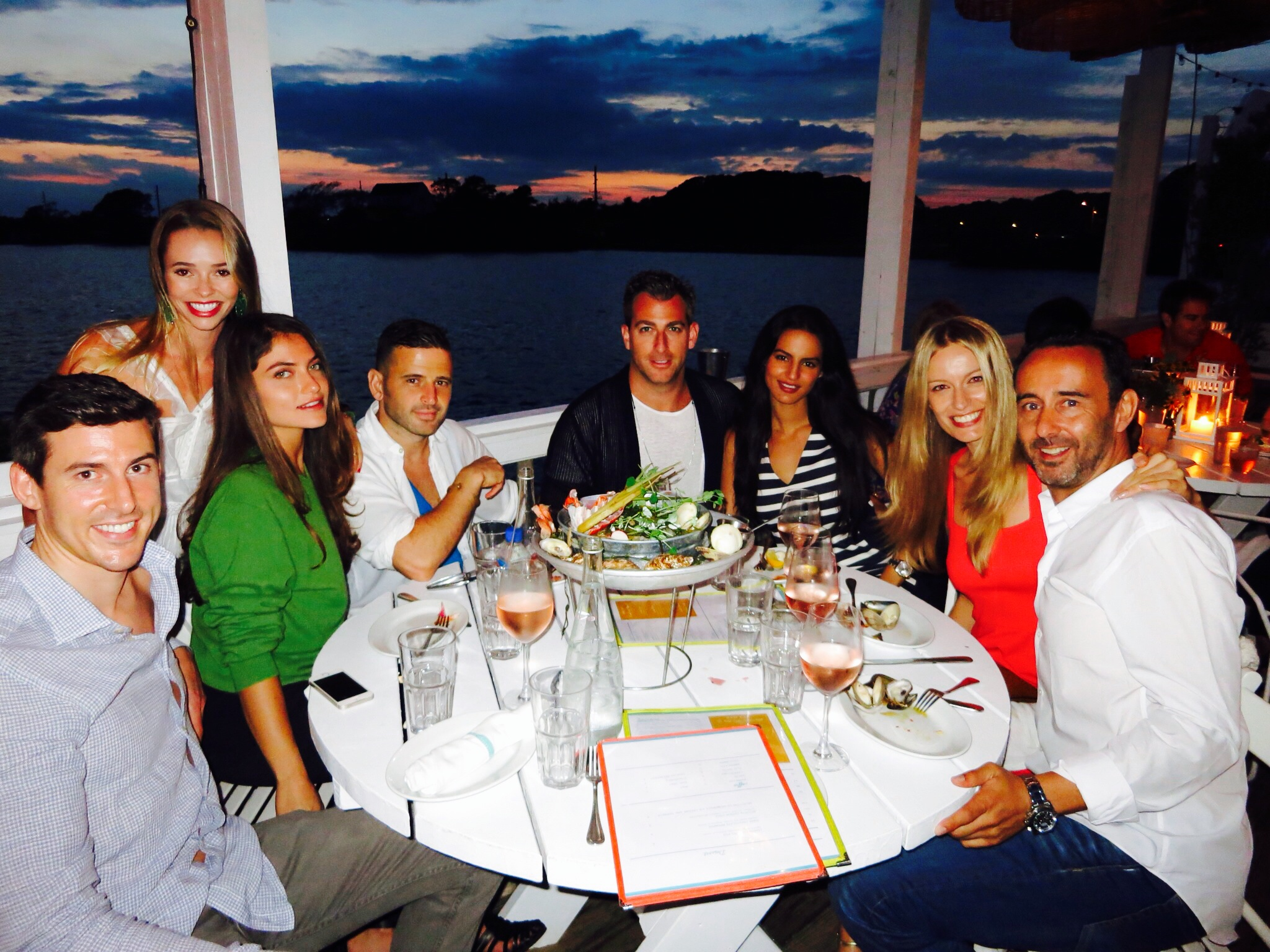 """Amazing dinner with the best company @thesurflodgemtk in Montauk."