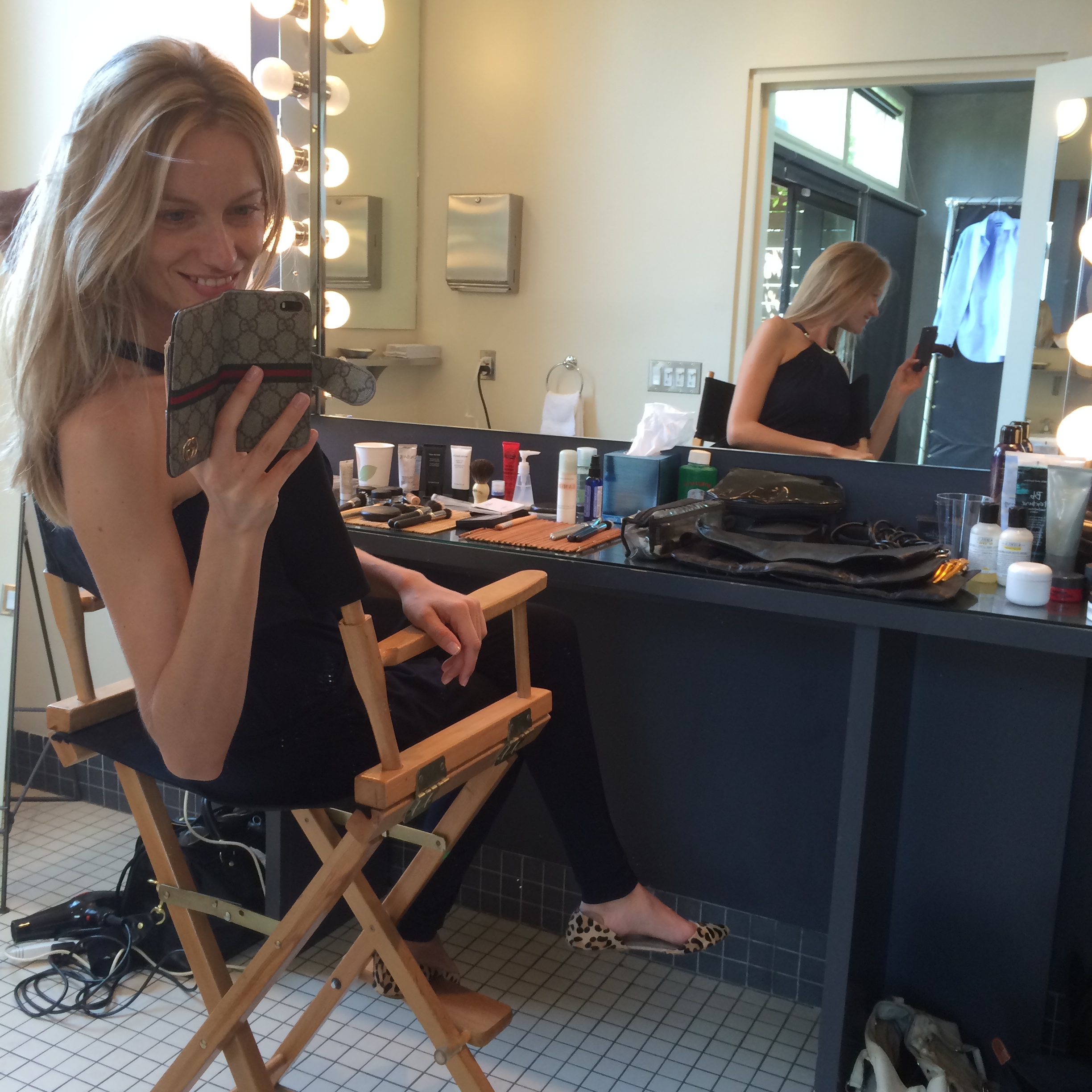 """On set. Pre-MakeUp. Detoxed. No Filter!"""