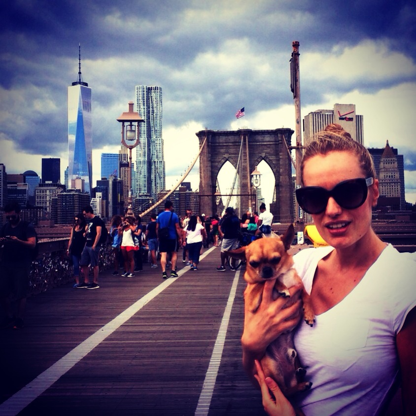 """We did it!! We crossed the Brooklyn Bridge!! #WeLoveNY"""