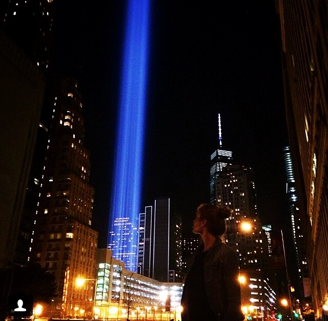 """On that day we were all New Yorkers. God Bless them all. Never Forget. 9/11."""