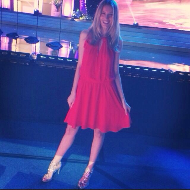 At Miss Universe Gala. Wearing my new Serena Whitehaven shoes from Red Carpet Collection ♥