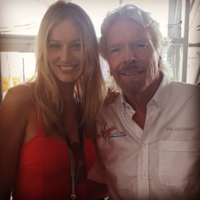 Enjoying the pre-race with Mr. Richard Branson.