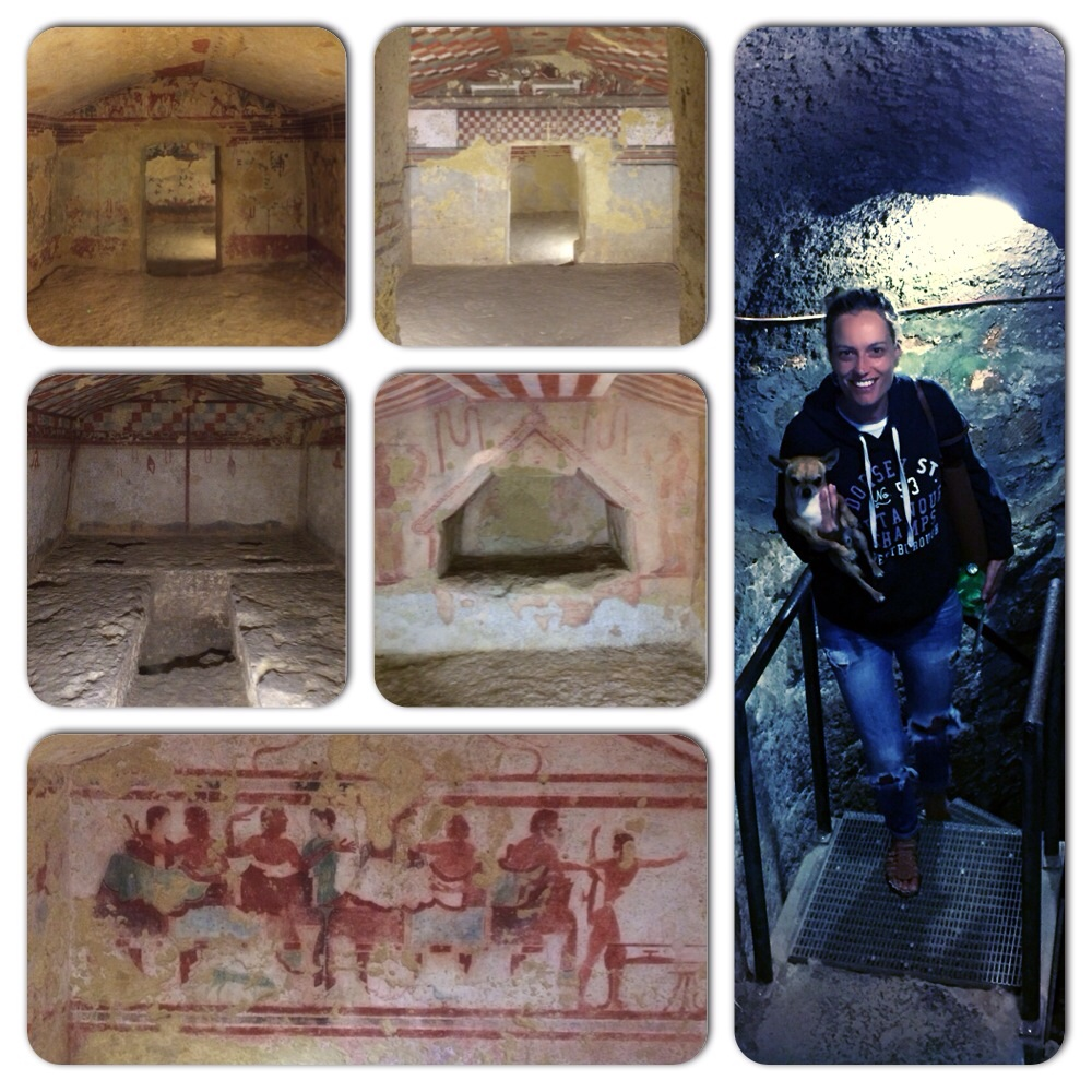 "And in that moment you realize that, in the end, we haven't improved that much. The Necropolis of Tarquinia has been dubbed ""the first chapter in the history of Italian painting"". The painted tombs illustrate the wealth and power of the deceased to whom they were dedicated, so stand as symbols of their high social rank."