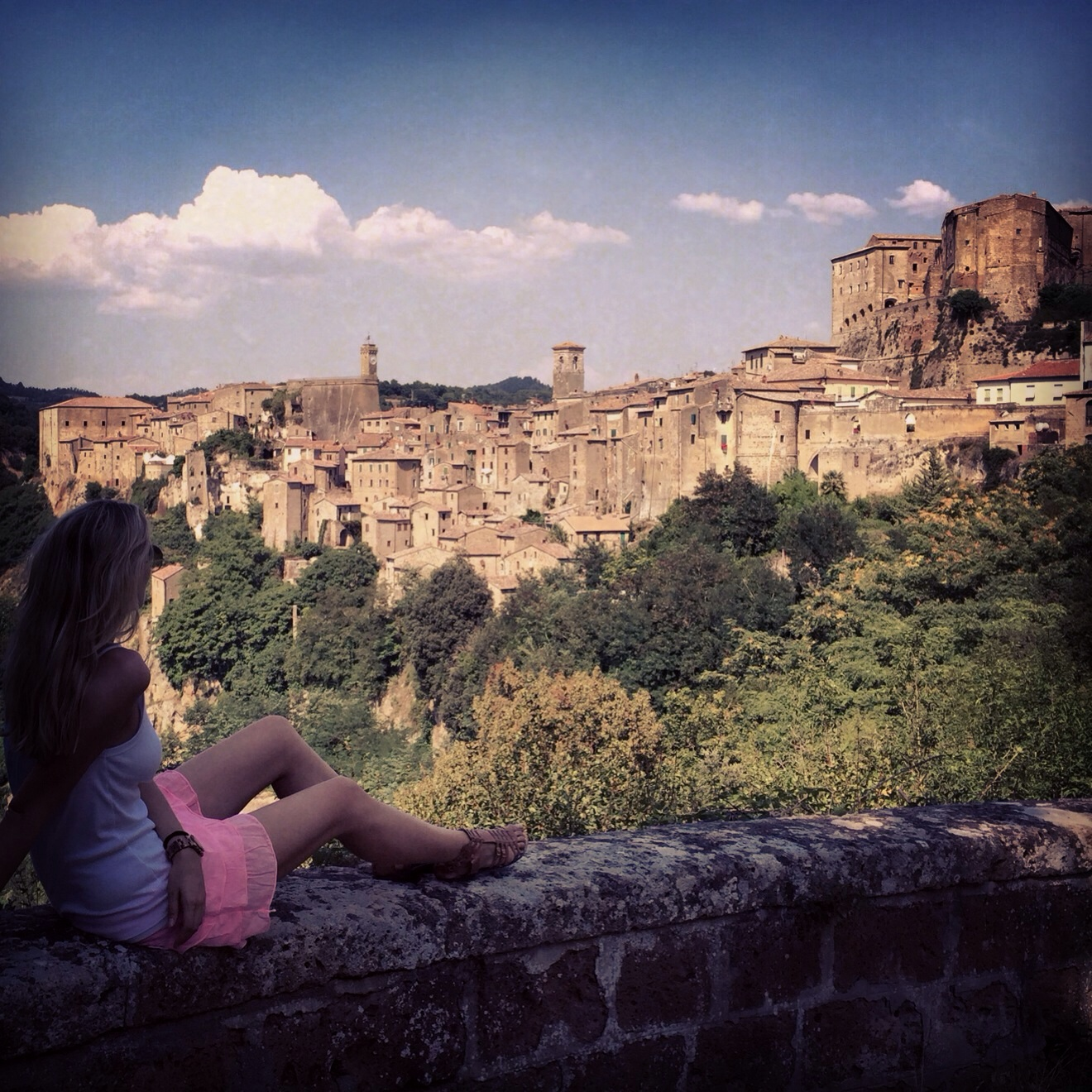 A privileged view of Pitigliano.