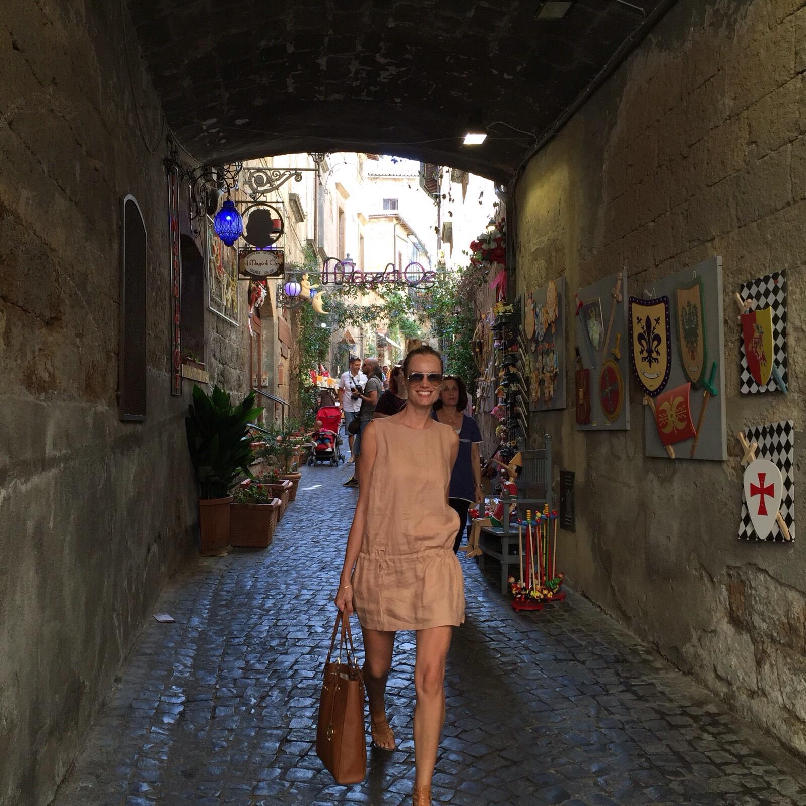 Walking around Orvieto.